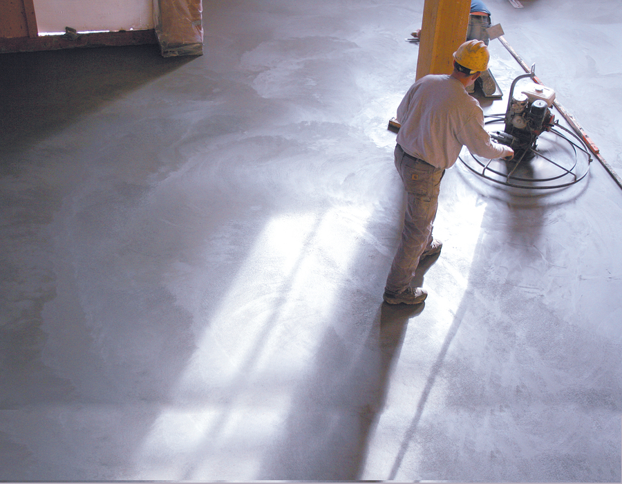 smoothing out the floor
